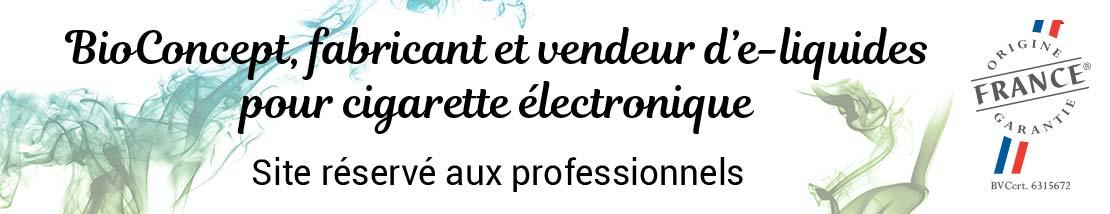 Fabrication et vente d'eliquides pour cigarettes électroniques. Boutique réservée aux professionnels.